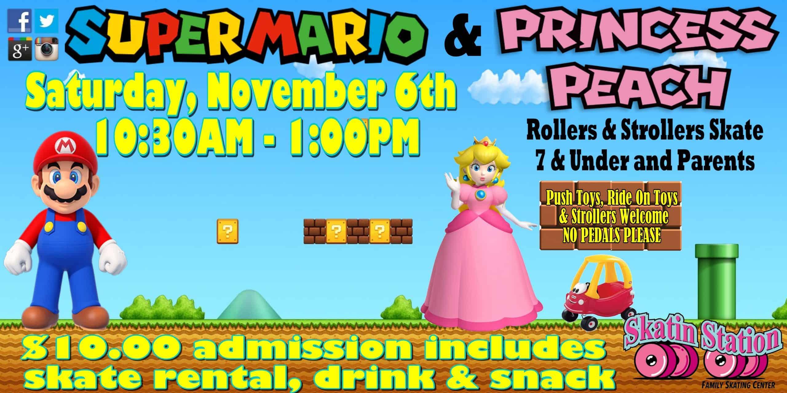 Mario and Peach Skate